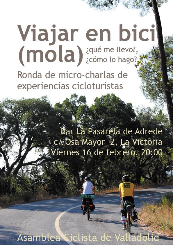VIAJAR EN BICI (MOLA), ronda de micro-charlas sobre experiencias cicloturistas
