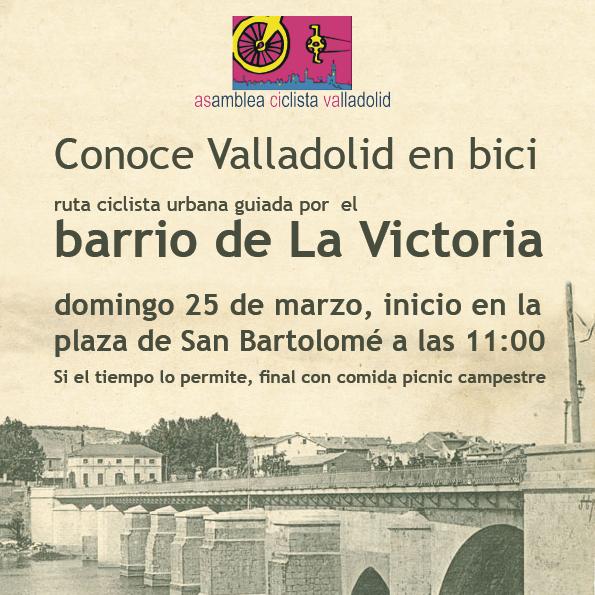 Conoce Valladolid en bici: paseo ciclista por La Victoria